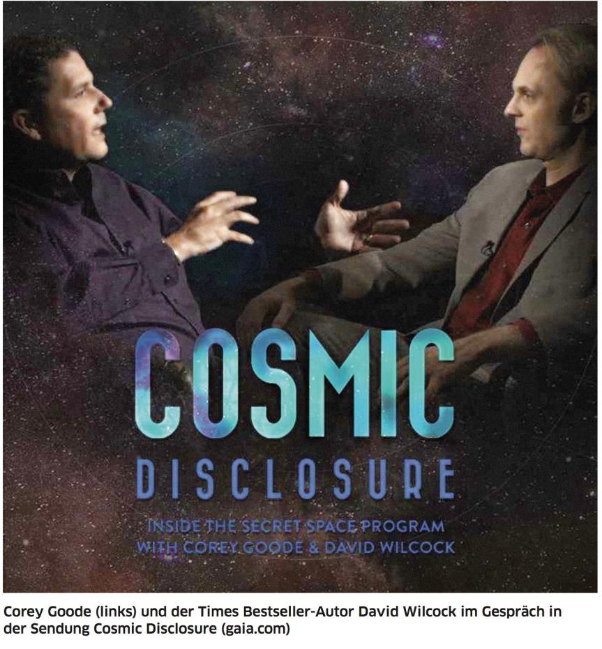 Corey Goode, geheime Weltraumprogramme, Plasmatechnologie, Alchemie und mein neuerArtikel.
